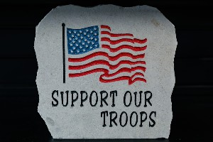 "Support Our Troops 12"" X 12"""